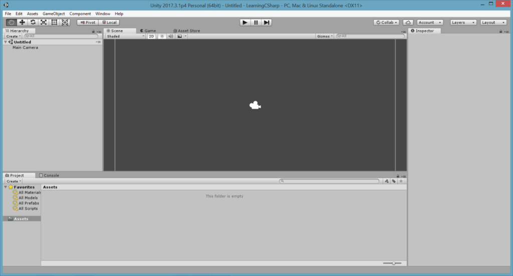 Unity Tutorial. Unity Editor Interface Image from Ackosmic Games
